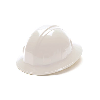 Pyramex HP26110 White Full Brim Style Hard Hat w/Ratchet Suspension PYR-HP26110