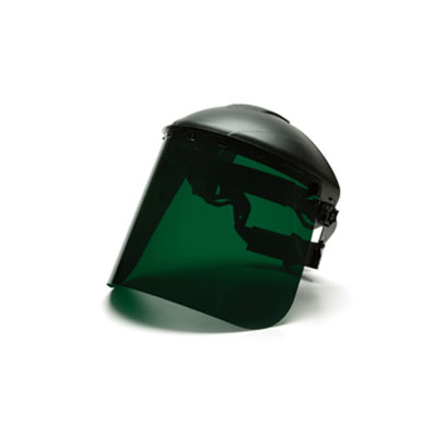 Pyramex S1035 Dark Green Polyethylene Face Shield - 8inx15inx.040in PYR-S1035
