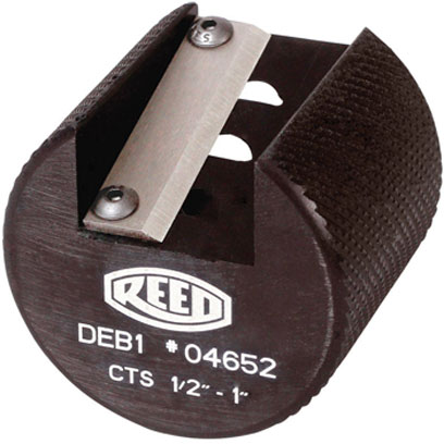 Reed DEB1CTS Plastic Pipe Deburring Tool Cts 1/2, 3/4, and 1in Capacity 04652