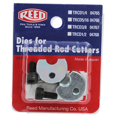 Reed TRCD1/4 Threaded Rod Cutter Replacement Dies 1/4in. RD-04765