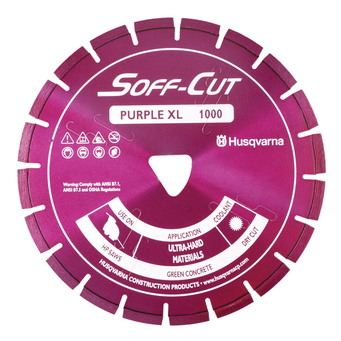 Soff-Cut Series 1000 Purple Diamond Blades