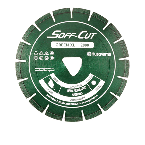 Soff-Cut XL10-2000 Green 10in.x.100 Premium Diamond Blade - 10 Pack 589927301