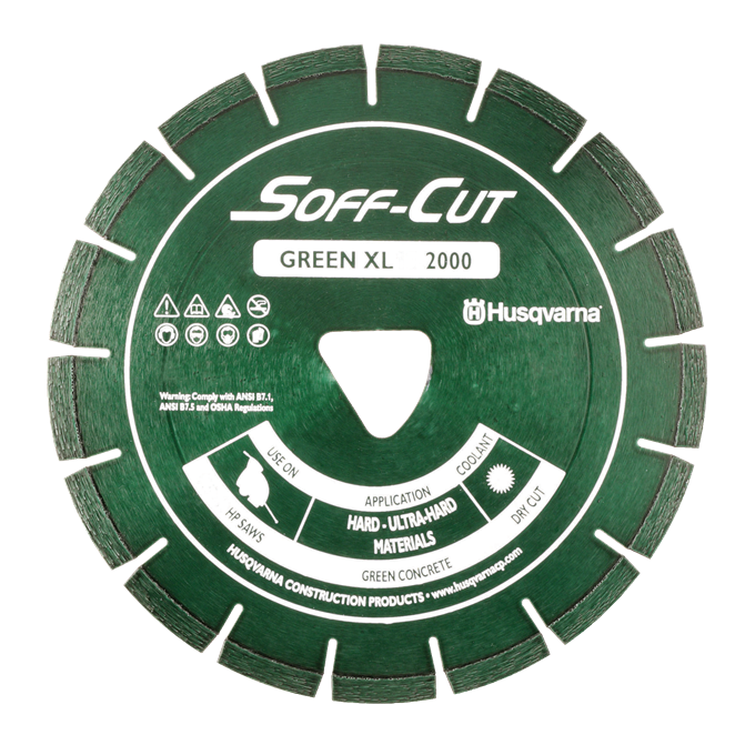 Soff-Cut Series 2000 Green Diamond Blades