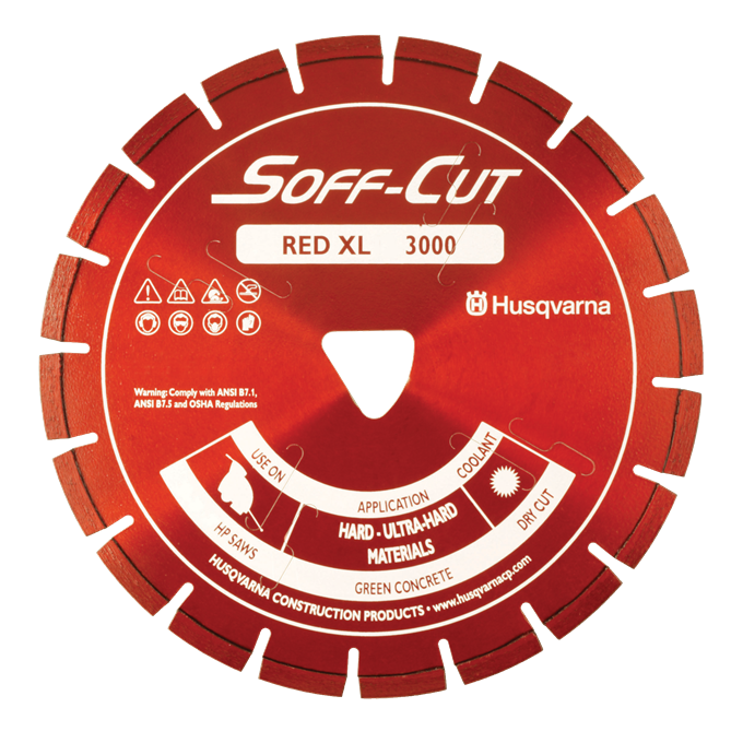Soff-Cut Series 3000 Red Diamond Blades