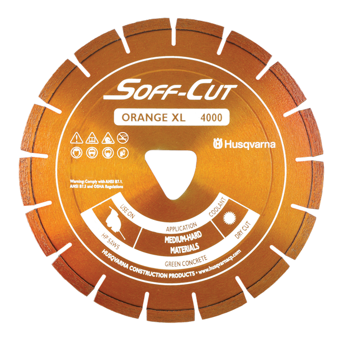 Soff-Cut Series 4000 Orange Diamond Blades