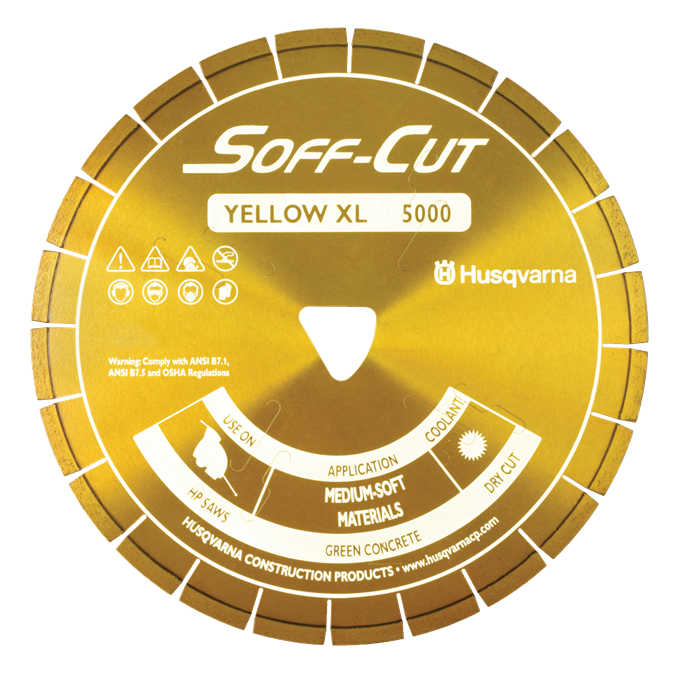 Soff-Cut Series 5000 Yellow Diamond Blades