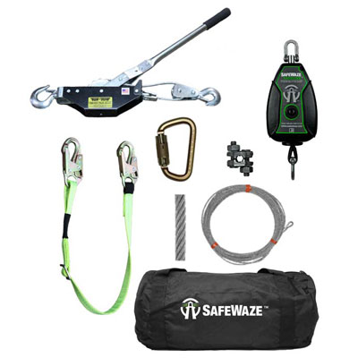 Safelink Horizontial Lifeline Kit and Components