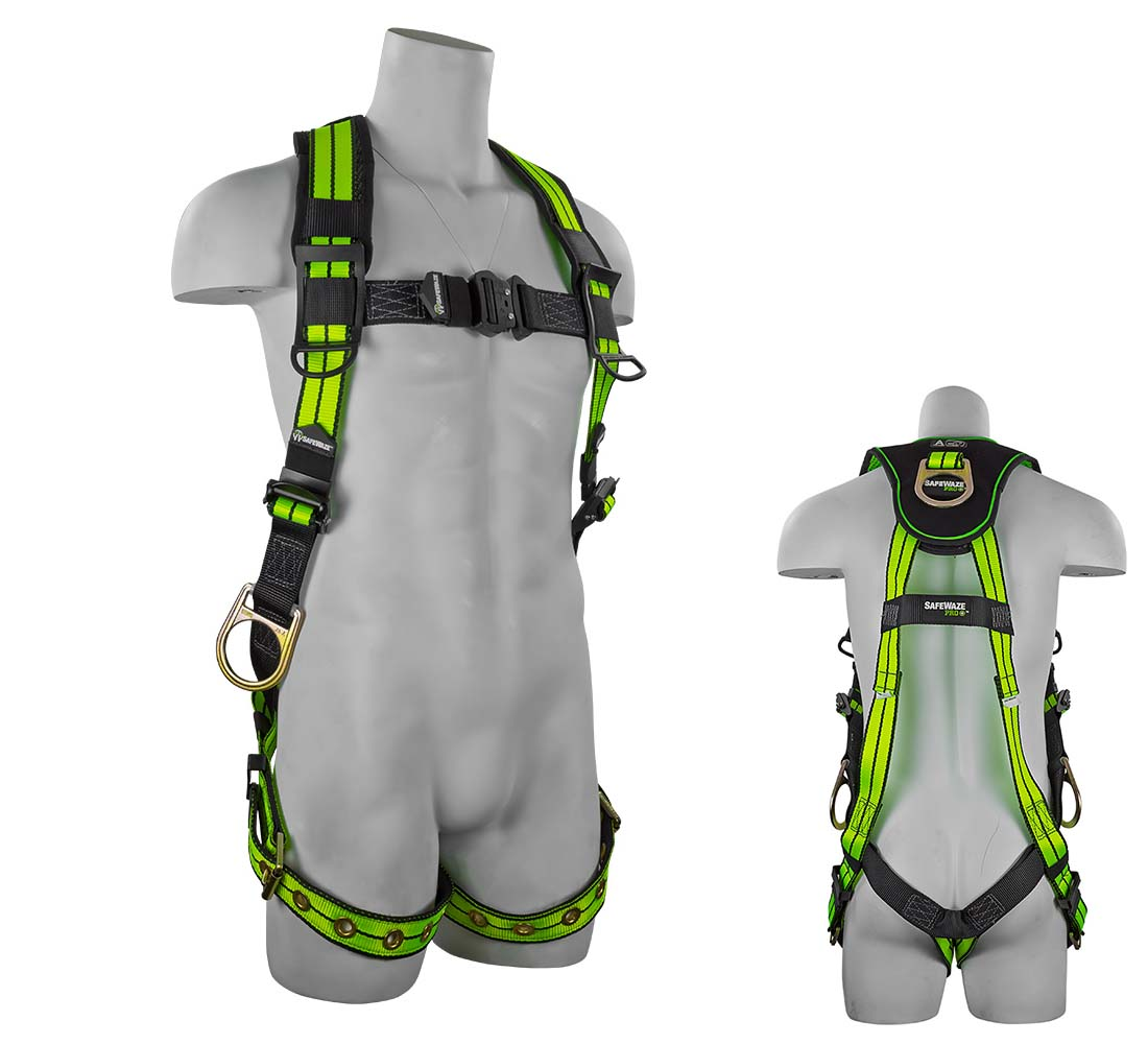 Safewaze FS-FLEX285 PRO+ Flex Fall Protection Harness with 3 D-Rings - Medium FFS-FSFLEX285S/M