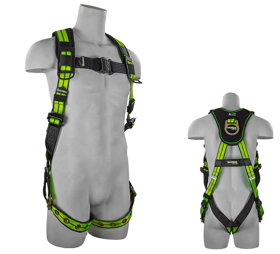 Safewaze FS-FLEX185 PRO+ Flex Vest Fall Protection Harness with 1 D-Ring - Large/Xlarge FS-FLEX185-L/XL