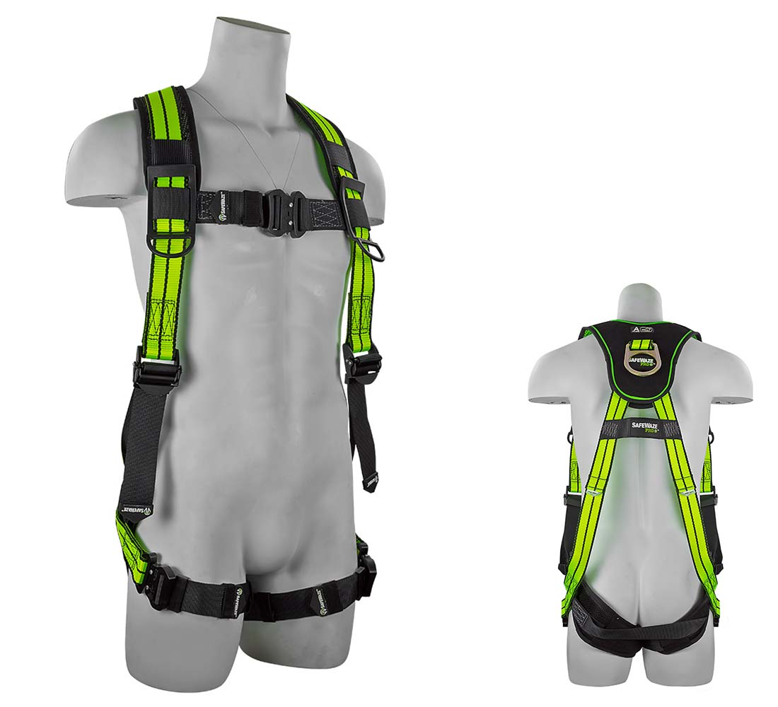 Safewaze FS-FLEX250 PRO+ Flex Premium Harness with Cool Air Leg Pads and 1 D Ring Small/Medium FS-FLEX250-S/M
