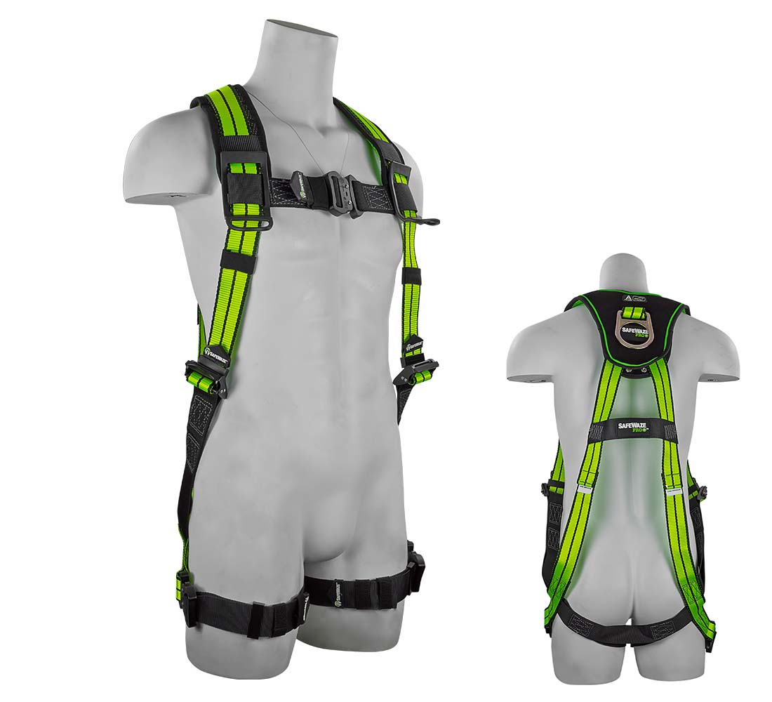 Safewaze FS-FLEX280 PRO+ Flex Premium Vest Hall Protection Harness with 1 D-Ring - Small/Medium FS-FLEX280-S/M