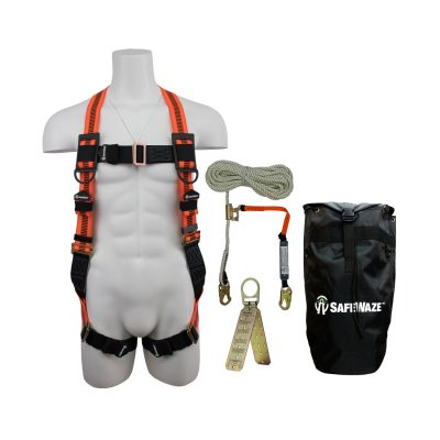 Safewaze FS-ROOF-E-BP Complete Roofer's Fall Protection Compliance Kit in a Backpack FS-ROOF-E-BP
