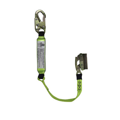 Safewaze FS00SP/FS1117-3 3ft. Energy Absorbing Lanyard attached to Non-Removable Fall Arrester Manual FS00SP/FS1117-3