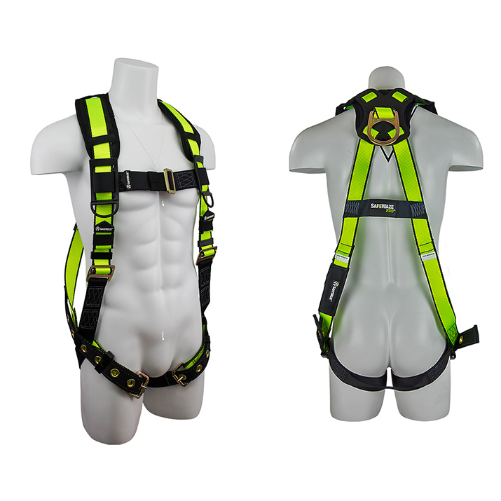 Safewaze FS185 PRO Fall Protection Harness with 1 D-Ring - Large/X-Large FFS-FS185 L/XL