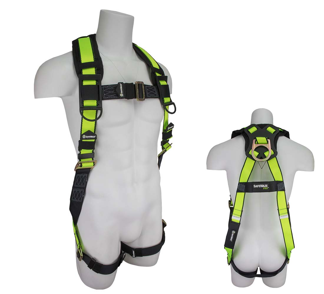 Safewaze FS280 PRO Vest Fall Protection Harness with 1 D Ring - XXLarge FS280-XXL