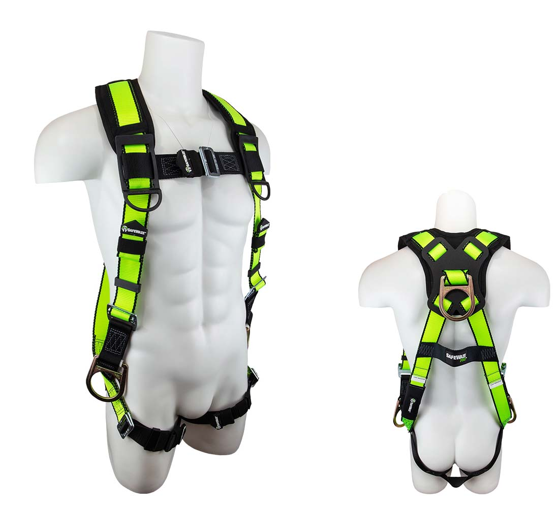 Safewaze FS281 PRO Vest Fall Protection Harness with 3 D-rings - Small/Medium FS281-S/M