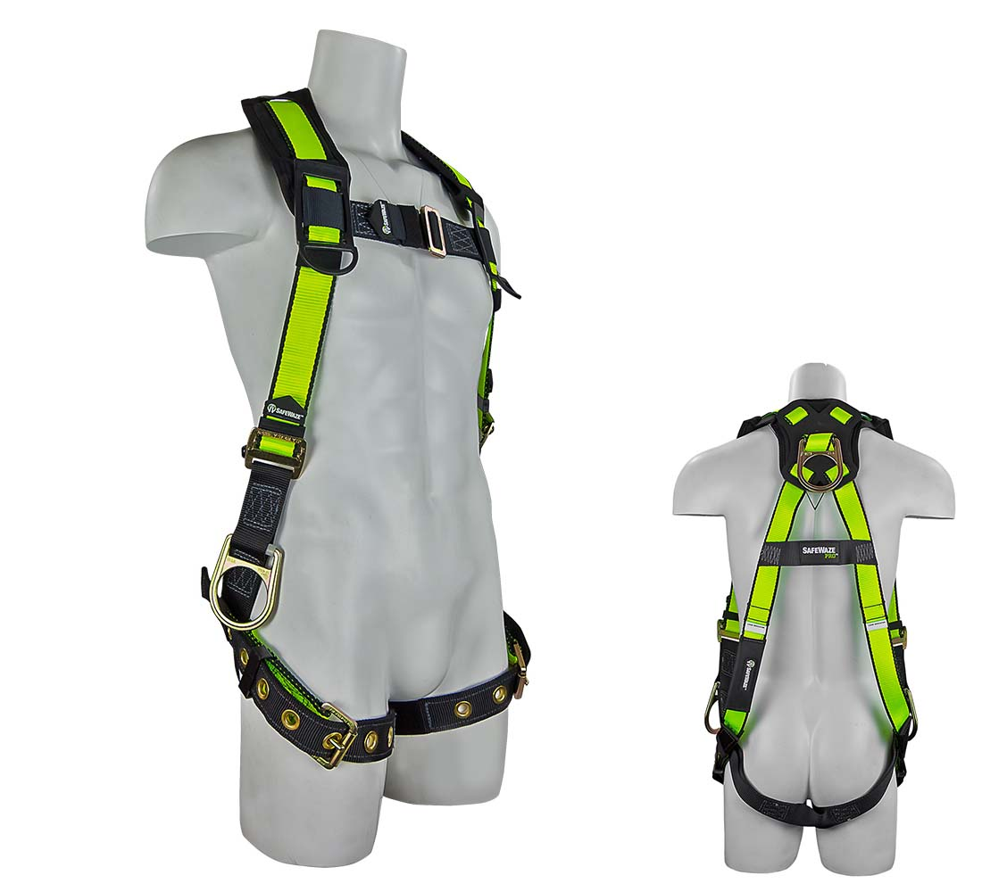 Safewaze FS285 PRO Vest Fall Protection Harness with 3 D-rings -  Large/X-Large