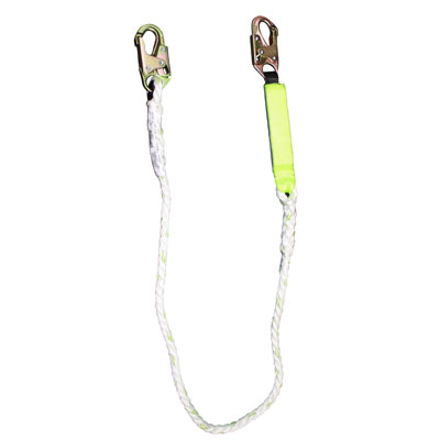 Safewaze FS33215 6ft. Energy Absorbing PolyDac Rope Lanyard FS33215