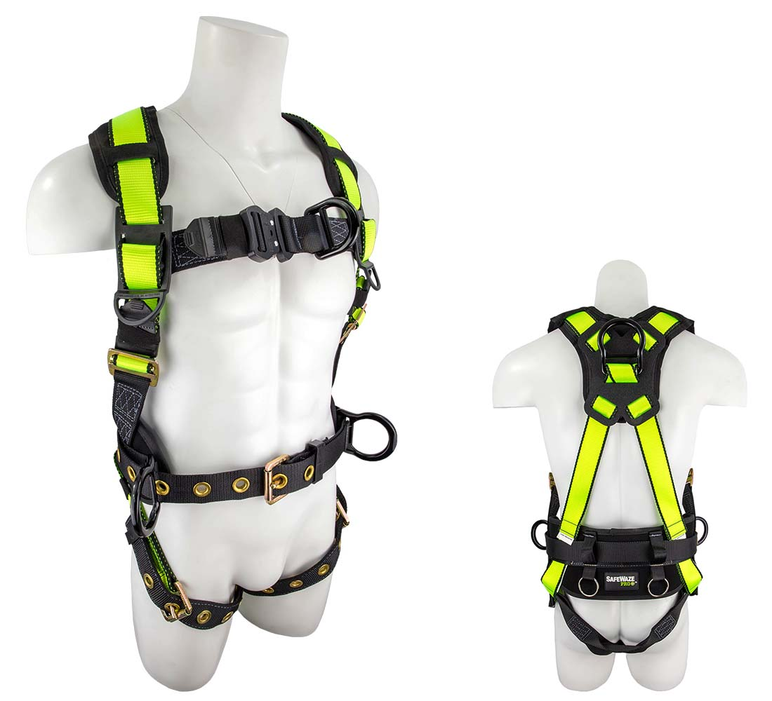 Safewaze FS377 PRO+ Wind Energy Harness with 4 D-Rings - Small FS377-S
