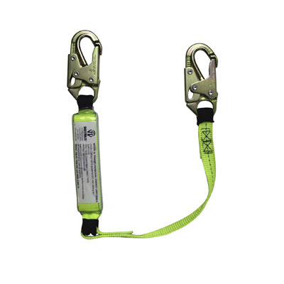 Safewaze FS560-3 3ft. Energy Absorbing Lanyard with Double Locking Snap Hooks FS560-3