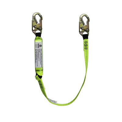 Safewaze FS560-4 4ft. Energy Absorbing Lanyard with Double Locking Snap Hooks FS560-4