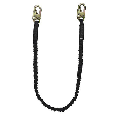Safewaze FS580 6FT Low Profile Energy Absorbing Lanyard w/ Snap Hooks FFS-FS580