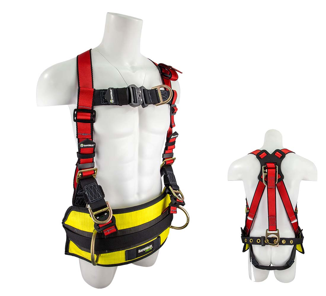 Safewaze FS77635-OD PRO+ Oil Derrick Fall Protection Harness with Oil Derrick Pad and 4 D-Rings - Large/X-Large FS77635-OD-L/XL