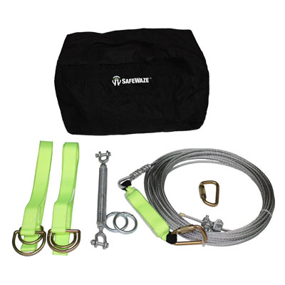 Safewaze FS806-100 Horizontal Lifeline Kit - Cable FFS-FS806 100