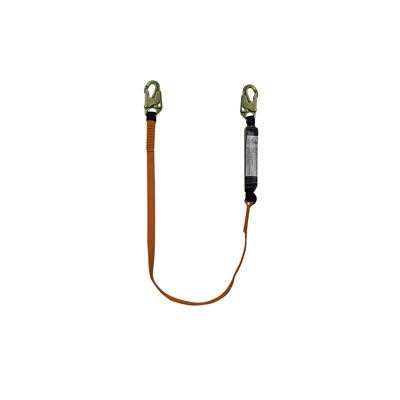 Safewaze FS88560-E 6ft. Energy Absorbing Lanyard with Double Locking Snap Hooks FS88560-E