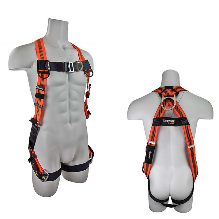 Safewaze FS99185-EFD V-LINE Fall Protection Harness with 2 D-Rings - Universal Size FS99185-EFD