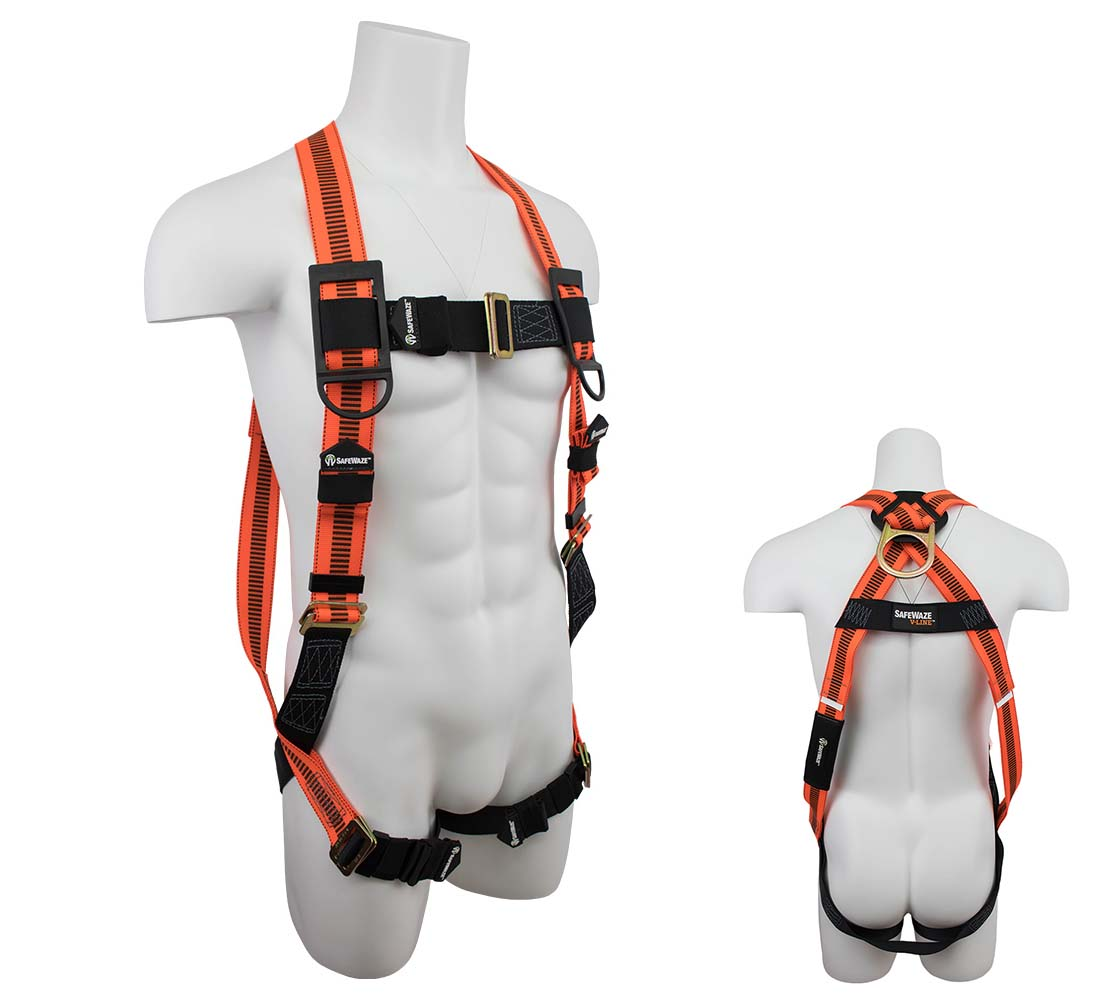Safewaze FS99280-E V-LINE Vest Fall Protection Harness with 1 D-Ring - Universal Size FS99280-E