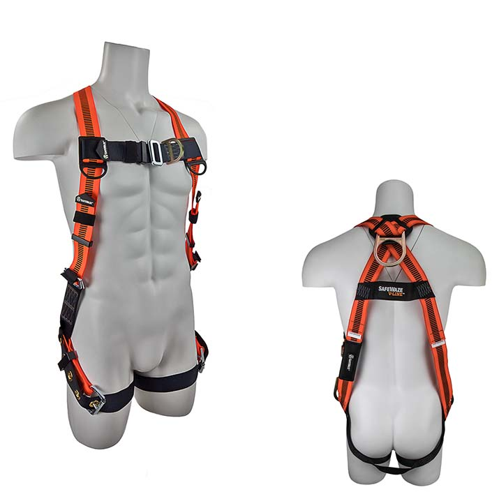 Safewaze FS99281-EFD V-LINE Fall Protection Harness with 4 D-Rings - Universal Size FS99281-EFD