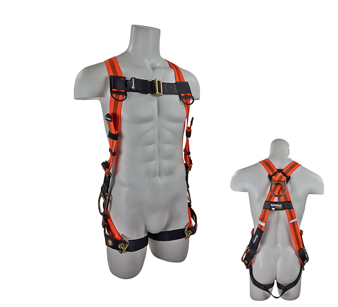 Safewaze FS99285-E V-LINE Fall Protection Harness with 3 D-rings - Universal Size FS99285-E