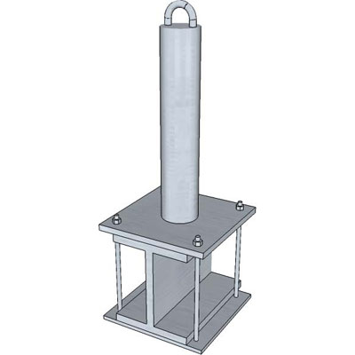 Safewaze SW-EX281 14in.Steel I-Beam Wrap Fall Protection Anchor Post SW-EX281