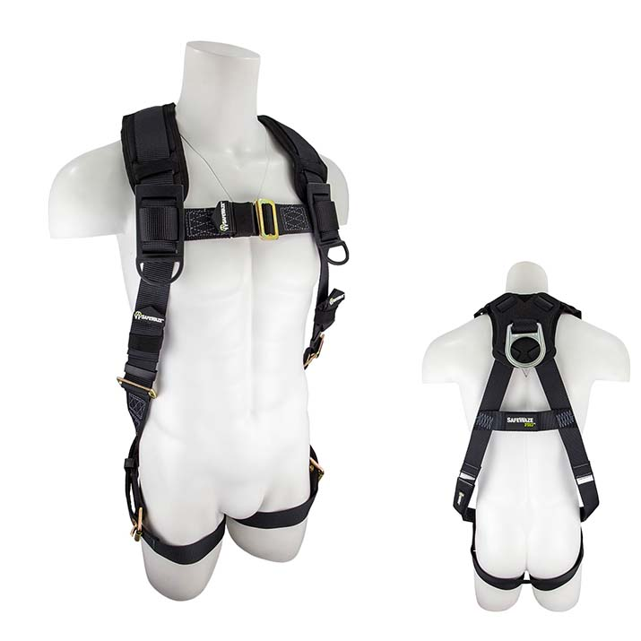 Safewaze SW99280-HW PRO Heavy Weight Fall Protection Harness with 1 D-Ring SW99280-HW