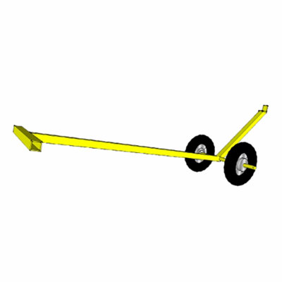 Safewaze FS-EX344 Guardrail Weighted Base Moving Dolly FS-EX344