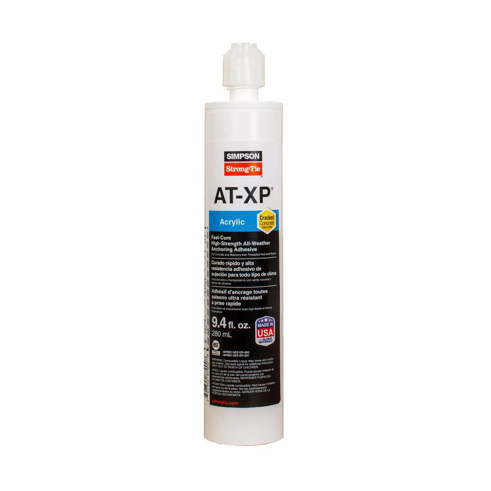 Simpson Strong-Tie AT-XP10 Acrylic Adhesive for Concrete and Masonry Anchoring - 9.4 oz. (Case of 6) AT-XP10-Case