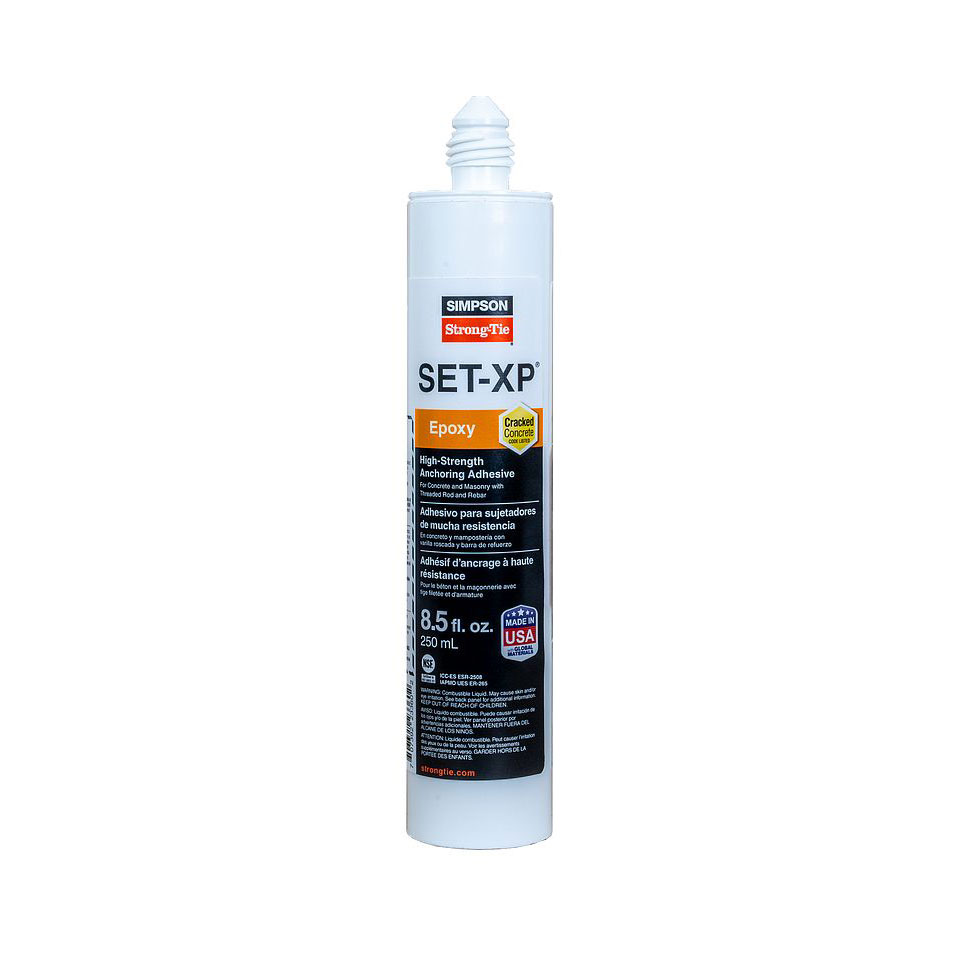 Simpson Strong-Tie SET-XP10 SET-XP High-Strength Epoxy Adhesive 8.5 oz. Cartridge with Nozzles SET-XP10