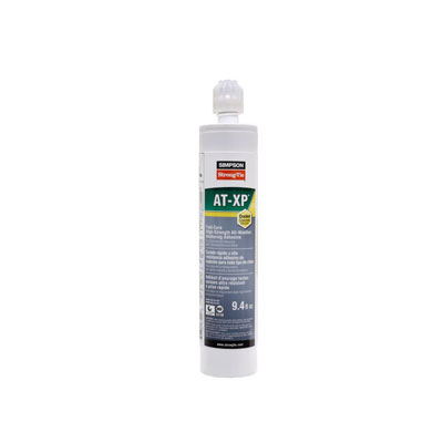 Simpson Strong-Tie AT-XP10 AT-XP High-Strength Acrylic Adhesive 9.4 oz. Cartridge with Nozzle AT-XP10