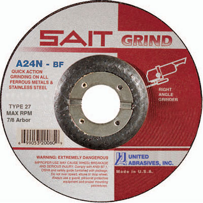 United Abrasives-SAIT 48008 1-1//2 X 1//2 1//4-20 Inch 120X Square Pad 50-Pack