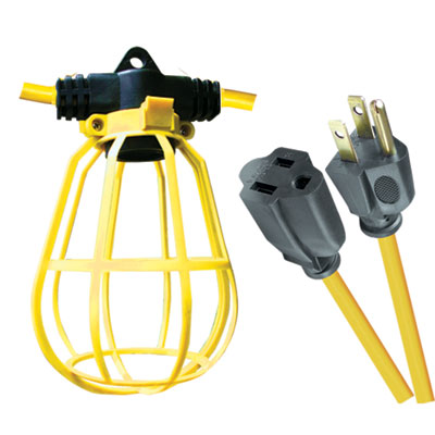 Voltec 08 00194 100ft 12 3 Stw U Ground Pro Series 10 Light Temporary String With Plastic Cage