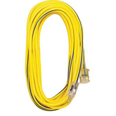 Voltec 05-00366 100 ft 12/3 Extension Cord Lighted End FXW-0500366