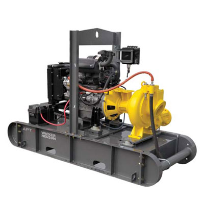Wacker APT4T 4in High Flow Trash Water Pump with 2in Ball Hitch APT4T
