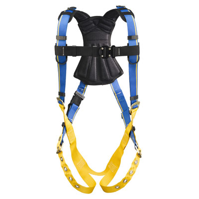 Werner Blue Armor 2000 H112002 Fall Protection Harness with 1 D-Ring - Medium/Large WER-H112002