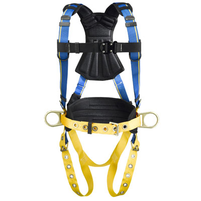 Werner Blue Armor 2000 H132102 Construction Fall Protection Harness with 3 D-Rings - Medium/Large WER-H132102