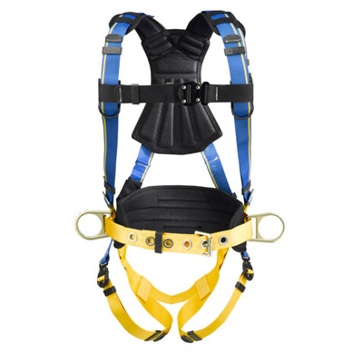 Werner Blue Armor 2000 H133104 Construction Fall Protection Harness with 3 D-Rings - X-Large H133104