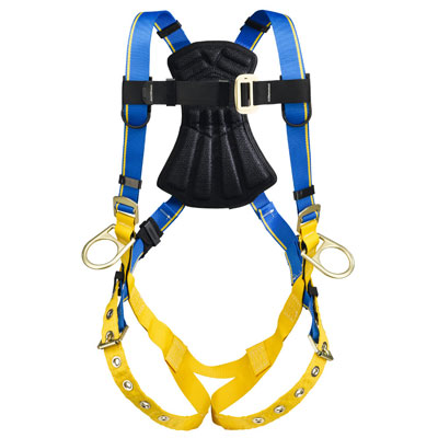 Werner Blue Armor 1000 H232002 Positioning Fall Protection Harness with 3 D-Rings - Medium/Large WER-H232002