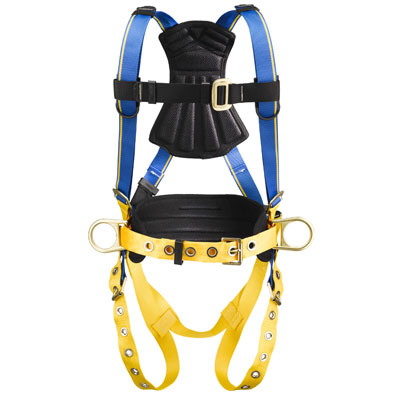 Werner Blue Armor 1000 H232101 Construction Fall Protection Harness with 3 D-Rings - Small WER-H232101