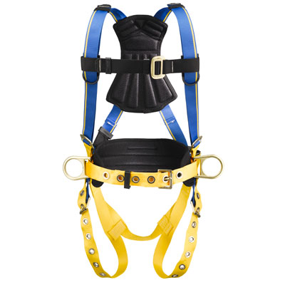 Werner Blue Armor 1000 H232102 Construction Fall Protection Harness with 3 D-Rings - Medium/Large WER-H232102