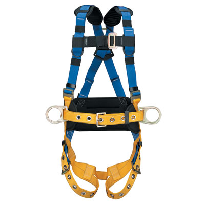 Werner LiteFit H332104 Construction Fall Protection Harness with Tongue Buckle Legs - X-Large WER-H332104